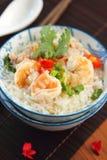 семените суп риса креветки свинины стоковое фото