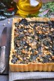 Семенить пирог с мангольдом и Стоковое Фото