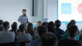 Семинара конференции встречи офиса бизнесмены концепции тренировки акции видеоматериалы