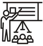 семинар, тренируя линия изолированный значок вектора можно легко доработать и редактировать бесплатная иллюстрация