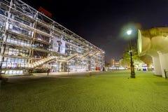 семидесятый год центра Georges Pompidou Стоковое Фото