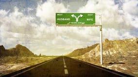 Семилетний дорожный знак развода зуда Стоковая Фотография RF