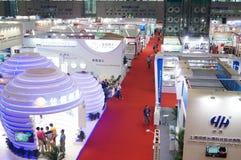 Семнадцатое экспо Китая международное электронно-оптическое, который держат в конвенции Шэньчжэня и выставочном центре стоковые изображения rf