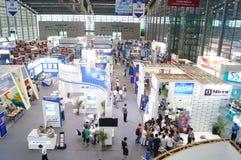 Семнадцатое экспо Китая международное электронно-оптическое, который держат в конвенции Шэньчжэня и выставочном центре стоковое фото