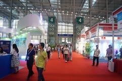 Семнадцатое экспо Китая международное электронно-оптическое, который держат в конвенции Шэньчжэня и выставочном центре стоковое изображение