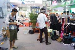 Семнадцатое экспо Китая международное электронно-оптическое, который держат в конвенции Шэньчжэня и выставочном центре стоковая фотография