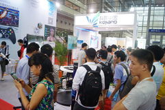 Семнадцатое экспо Китая международное электронно-оптическое, который держат в конвенции Шэньчжэня и выставочном центре стоковые изображения