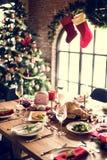 Семьи концепция торжества рождества совместно Стоковые Изображения