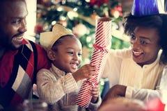 Семьи концепция торжества рождества совместно Стоковые Изображения RF