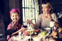 Семьи концепция торжества рождества совместно Стоковая Фотография RF
