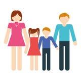 семьи члены совместно традиционные иллюстрация штока