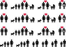 Семьи иллюстрация штока