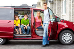 семья автомобиля Стоковая Фотография RF
