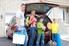 семья автомобиля Стоковые Изображения