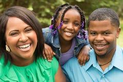 семья афроамериканца счастливая Стоковое Изображение