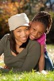 семья афроамериканца стоковое изображение rf