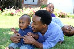 Семья афроамериканца Стоковые Изображения