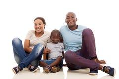 семья афроамериканца стоковое изображение