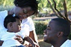 семья афроамериканца Стоковые Фотографии RF