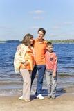 Семья беременный отец и сын матери Стоковое Изображение
