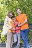 Семья беременный отец и сын матери Стоковая Фотография