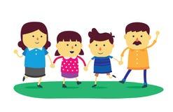 Семья благополучия Стоковые Изображения