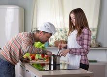 Семья варя интерьер обедающего дома Стоковые Фото