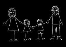 семья вручает счастливый усмехаться удерживания бесплатная иллюстрация