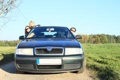 Семья в автомобиле Стоковые Фотографии RF