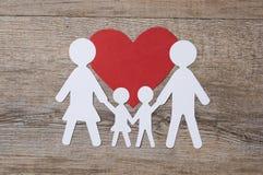 Семья в влюбленности Стоковая Фотография RF