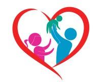 Семья в влюбленности Стоковые Изображения