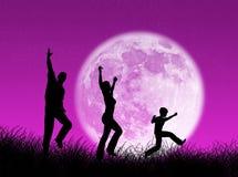 Семья в луне Стоковая Фотография RF