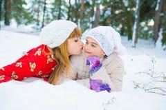 Семья в парке зимы Стоковые Изображения RF