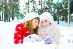 Семья в парке зимы Стоковые Фото