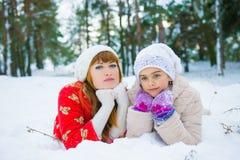 Семья в парке зимы Стоковое Фото