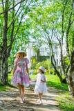Семья в парке лета стоковое фото rf