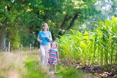 Семья в древесине сосны Стоковые Фотографии RF
