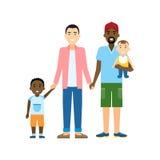 Семья гомосексуалиста иллюстрация штока