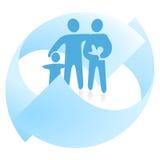 семья дел иллюстрация штока