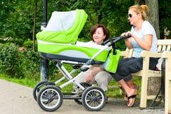 семья детской дорожной коляски Стоковые Фото