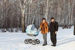 семья детской дорожной коляски Стоковое Изображение