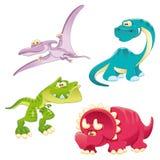 семья динозавров иллюстрация штока