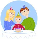 семья дня рождения иллюстрация штока