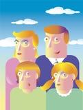 семья дня бесплатная иллюстрация