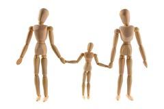 Семья деревянных марионеток Стоковое Изображение