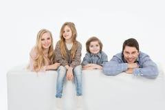 семья детей счастливая Стоковые Изображения