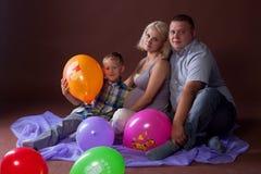 Семья женщины беременности Стоковая Фотография