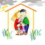 Семья - защита против всей невзгоды иллюстрация вектора