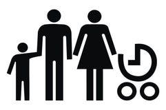 Семья, знак Стоковые Изображения