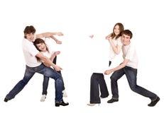 семья знамени счастливая Стоковая Фотография RF